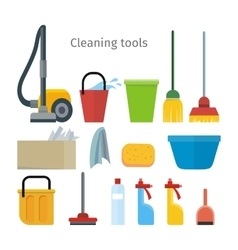 Cleaning tools isolated house washing equipment vector