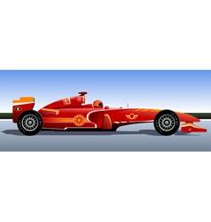 Racing bolide vector image