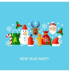 New year party greeting concept vector