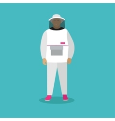 Beekeeper man in uniform in vector