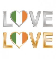 love Ireland vector image