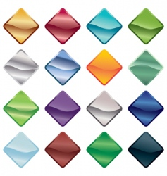 bright buttons vector image