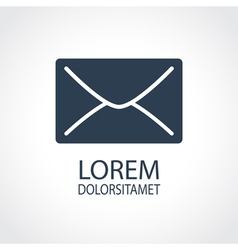 E-mail dark flat icon vector