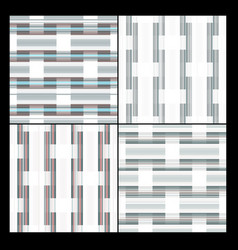 4 geometric seamless textures vector image vector image