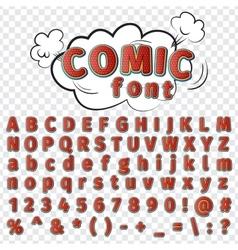 comics style alphabet vector image