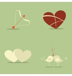 Love objects vector