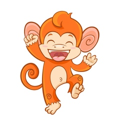 Cute cartoon smiling monkey vector image