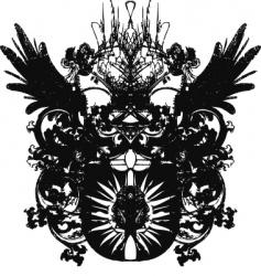 Grunge heraldic emblem vector