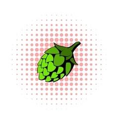 Green hop icon comics style vector