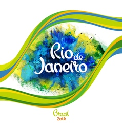 Rio de janeiro on a background watercolor stains vector