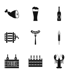 Alcohol icons set simple style vector