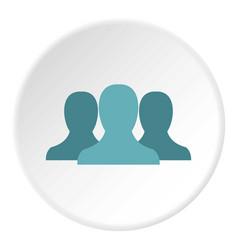 Anonymous avatars icon circle vector