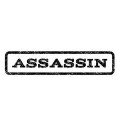 Assassin watermark stamp vector