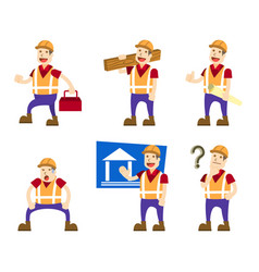 building builder collection set vector image vector image