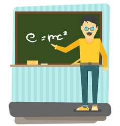 Character - teacher education concept flat style vector