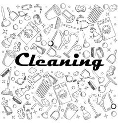 Cleaning coloring book vector image