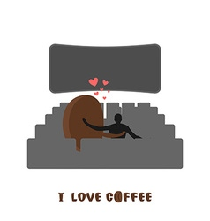 Coffee lovers coffee beansc places for kisses on vector