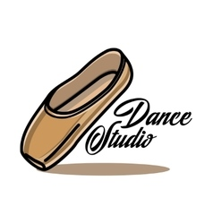Color vintage dance studio emblem vector