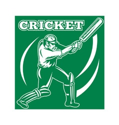 Cricket player background vector