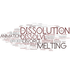 Dissolution word cloud concept vector