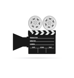 film camera tape black vector image vector image