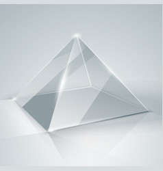 glass pyramid transparent pyramid isolated vector image vector image