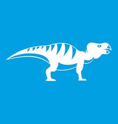 hadrosaurid dinosaur icon white vector image vector image