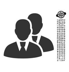 Managers icon with job bonus vector