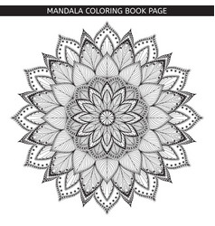 Mandala coloring book pages indian antistress vector