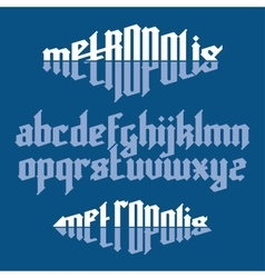 Metropolis gothic font vector image