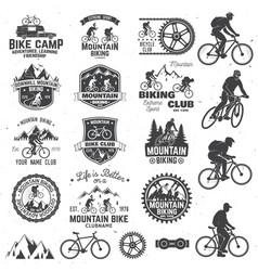 Mountain biking collection vector