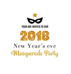 new year party invitation template vector image vector image