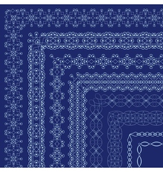 Ornate borders with outside corners in eastern vector