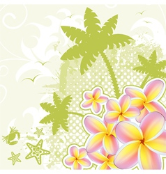 palm tree background vector image vector image