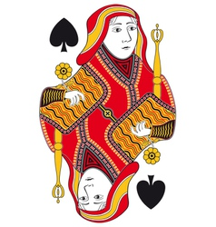 Queen of spades no card vector image