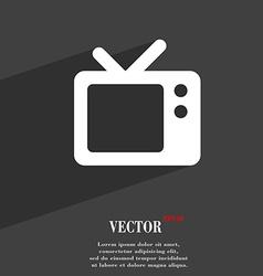 Retro TV icon symbol Flat modern web design with vector image