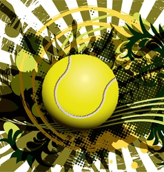 tennis ball vector image vector image