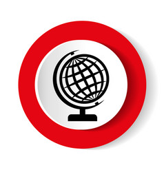 the globe icon globe symbol vector image vector image