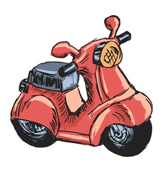 toy scooter vector image vector image