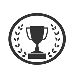 Trophy cup with Laurel wreath icon 4 vector image