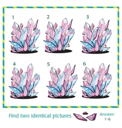 Visual puzzle - Find two identical images of vector image vector image