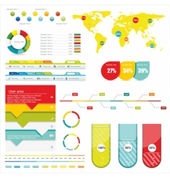 World map and information vector