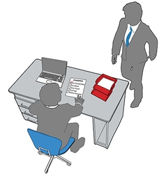 Business people human resources office evaluation vector