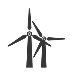 wind farm power icon graphic vector image