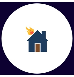 House fire computer symbol vector