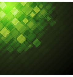 Dark green technical background vector