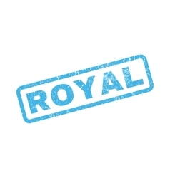 Royal rubber stamp vector