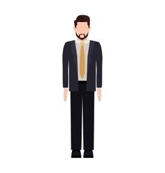Silhouette man with formal suit and necktie vector