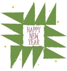 Happy new year greeting card geometric christmas vector