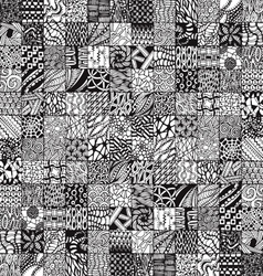 Abstract pattern with zentangl vector